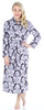 PajamaMania Women's Fleece Robes in Purple with White Floral