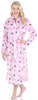 PajamaMania Women's Plush Fleece Long Bathrobe
