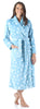Women's Fleece Long Robes in Blue Star