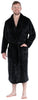 Men's Fleece Collard Robes in Black
