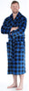 PajamaMania Men's Plush Fleece Robe Long Sleeve Bathrobe