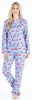Women's Cotton Flannel Long Sleeve Pajamas PJ Set in Cardinals