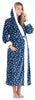 Women's Plush Fleece Non-Footed Onesie Pajamas in Blue Penguins
