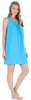 Women's Stretchy Knit Sleeveless Nightgown Beach Cover Up Sleep Dress Pajama