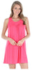 PajamaMania Women's Sleepwear Lightweight Sleeveless Nightgown in Fuchsia