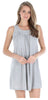 Women's Stretchy Knit Sleeveless Nightgown Beach Cover Up in Grey Melange