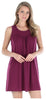 Women's Stretchy Knit Sleeveless Nightgown Beach Cover Up in Burgundy