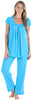 PajamaMania Women's Short Sleeve Pajama Set in Hawaiian Blue