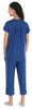 Women's Stretchy Knit Button Up Top and Capri Pajama Set