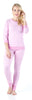 Women's Sleepwear Lightweight Striped Knit 2-Piece Pajamas PJ Set