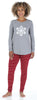 Women's Knit Long Sleeve Tunic Top and Leggings Pajama Set