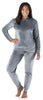 Women's Velvet Velour Hooded Loungewear Set