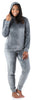 Women's Velvet Velour Hooded Loungewear Set in Grey