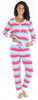 Women's Knit Long Sleeve Henley and Pant Pajama Set in Merry & Bright