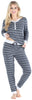 Women's Knit Long Sleeve Henley and Pant Pajama Set in Arrows