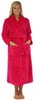 Sleepyheads Women's Jacquard Plush Fleece Long Robe in Hot Pink