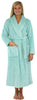 Sleepyheads Women's Jacquard Plush Fleece Long Robe in Powder Blue