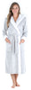 Sleepyheads Women's Fleece Long Sleeve Robe Sherpa-Lined Hooded Bathrobe in Light Grey