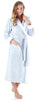 Women's Fleece Long Sleeve Robe Sherpa-Lined Hooded Bathrobe