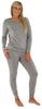 Sleepyheads Women's Raglan Long Sleeve Cuffed Pajama in Dark Grey