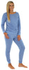 Sleepyheads Women's Raglan Long Sleeve Cuffed Pajama in Sky Blue