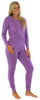 Sleepyheads Women's Raglan Long Sleeve Cuffed Pajama in Purple