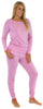 Sleepyheads Women's Raglan Long Sleeve Cuffed Pajama in Pale Pink