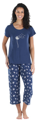 Women's Jersey Tee and Capri Set in Dandelion