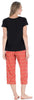 Women's Jersey Lightweight Short Sleeve Tee and Capri Pajama Set