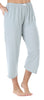 Women's Stretchy Knit Capri Pants in Grey