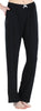 Women's Stretchy Knit Pajama Pants in Solid Black