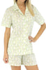 Sleepyheads Women's Poplin Short Sleeve & Short in Bird Trellis Blue
