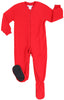 Holiday Family Matching Fleece Solid Red Onesie Pajamas Jumpsuit