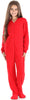 Solid Red Family Matching Onesie Pajamas for Kids