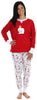 Women's Festive Holiday Knit Pajama Pj Sets in Penguin Bear