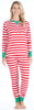 Christmas Family Matching Red Stripe Elf Pajama for Women