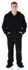 Men's Fleece Hooded Footed Onesie Pajamas in Black