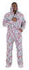Men's Fleece Hooded Footed Onesie Pajamas in Candy