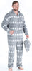 Family Matching Grey Snowflake Onesie Footed Pajamas