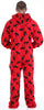 Men's Fleece Hooded Footed Onesie Pajamas
