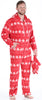 Family Matching Red Snowflake Onesie Footed Pajamas