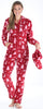 Family Matching Fleece Cranberry Deer Onesie Footed Pajamas