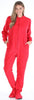 Adult Red Fleece Onesie Pjs Footed Pajama for Women
