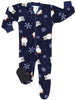 Family Matching Holiday Penguin Fleece Onesie PJs Footed Pajamas for the Family in Infant