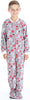 Kid's Fleece Onesie PJs Footed Pajama in Candy