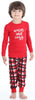 Family Matching Knit Red and Black Plaid Pajama for kids