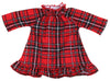Family Matching Red Plaid Flannel Thermal Pajamas for the Family