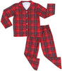 Christmas Family Matching Red Plaid Flannel Pajama Sets