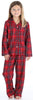 Family Matching Red Plaid Flannel Thermal Pajamas for the Family for kids