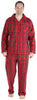 Family Matching Red Plaid Flannel Thermal Pajamas for the Family for Men -  Lounger